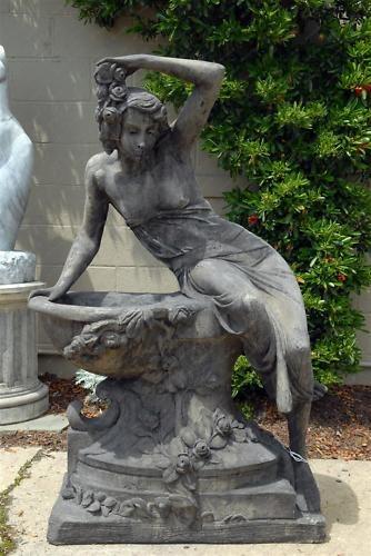 Lady With Bowl Concrete Garden Statue Concrete Garden