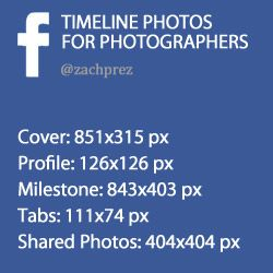 Facebook Timeline Photo Sizes for Photographers by Zach Prez