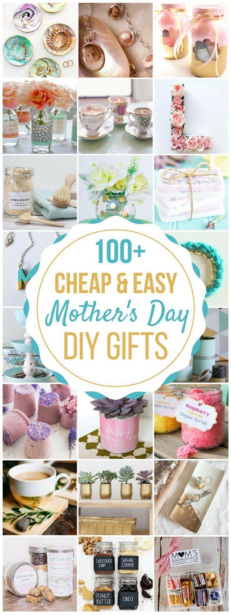 100 goedkope en eenvoudige doe-het-zelf cadeaus voor moeders