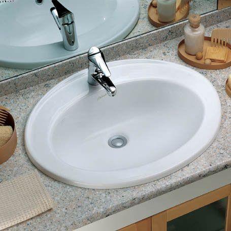 Lavabo Sella Dolomite Lavabo da incasso soprapiano in ceramica bianca con foro centrale per la