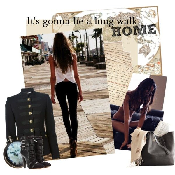 A fashion look from February 2015 featuring black jacket, black leather boots e leather purse. Browse and shop related looks.
