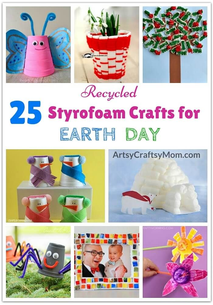 Craft Ideas For Kids Best Out Of Waste Part - 21: 25 Recycled Styrofoam Crafts For Earth Day