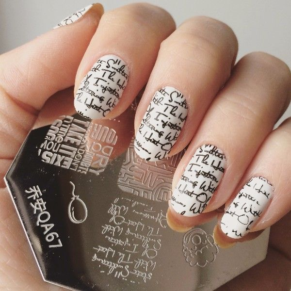 Lovely Lip Cup Letter Pattern Nail Art Stamp Stamping Template Image Plate Manicure Set QA67 ** You can get additional details at the image link.