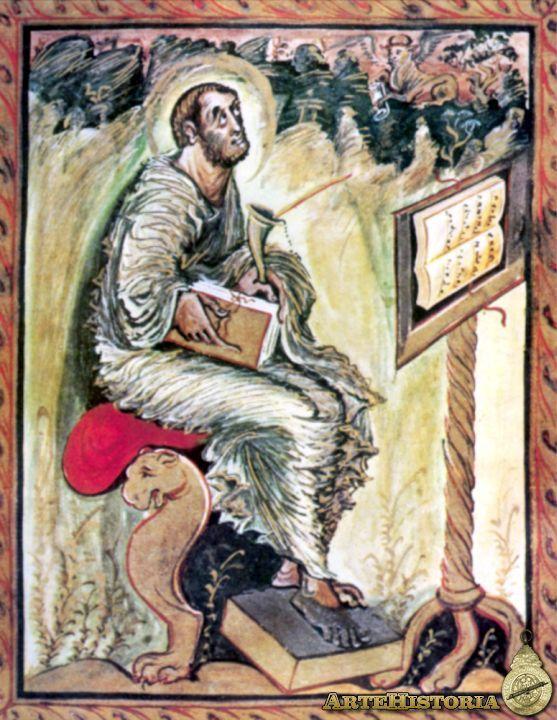 Evangelario de Ebbon. San Lucas / Escuela Palatina