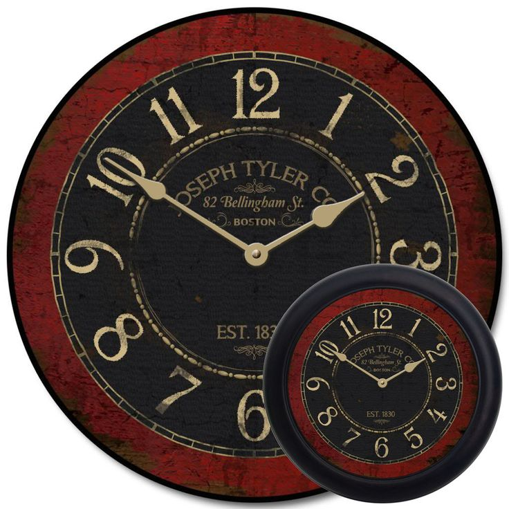 Les 25 meilleures id es de la cat gorie red clock sur for Castorama horloge