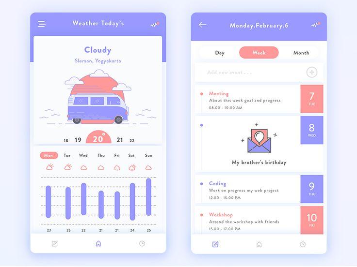 Daily UI #01 - Schedule of activities