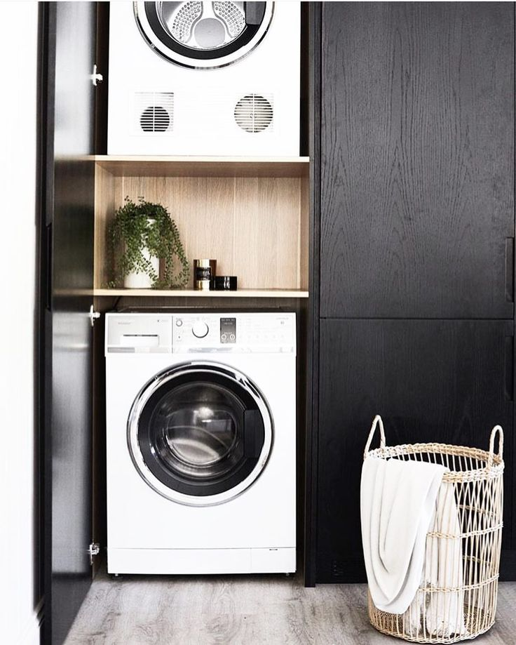 """359 Likes, 5 Comments - Scandinavian Lifestyling (@simple.form) on Instagram: """"•• A Minimalist LAUNDRY for your Laundry Day. Black + white, concealed and super compact. Just how…"""""""