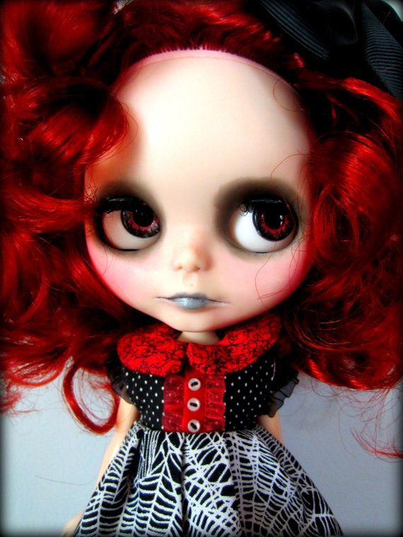 Reserved For Kelalily On Layaway Custom Gothic Blythe By