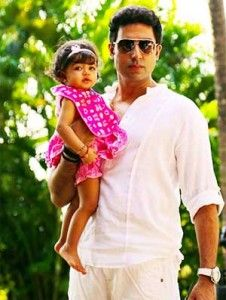 """Actor Abhishek Bachchan, who was recently trolled on Twitter by a user, says that being a public figure he is open to """"bouquets and brickbats"""" but daughter Aaradhya is off limits. Recently, a Twitter user commented that Abhishek's daughter Aaradhya would not like his movies like """"Drona"""" and """"Jhoom Barabar Jhoom"""" when she grows up."""