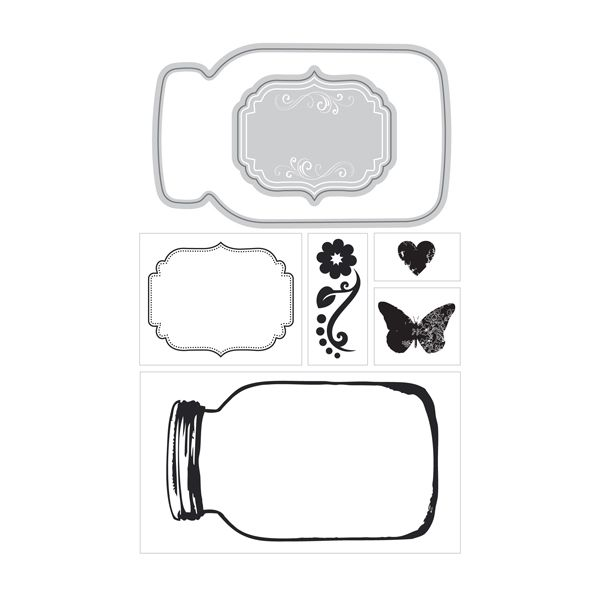 ArtC Stamp & Die Combo - ATC Mason Jar (24670) - The Rubber Buggy