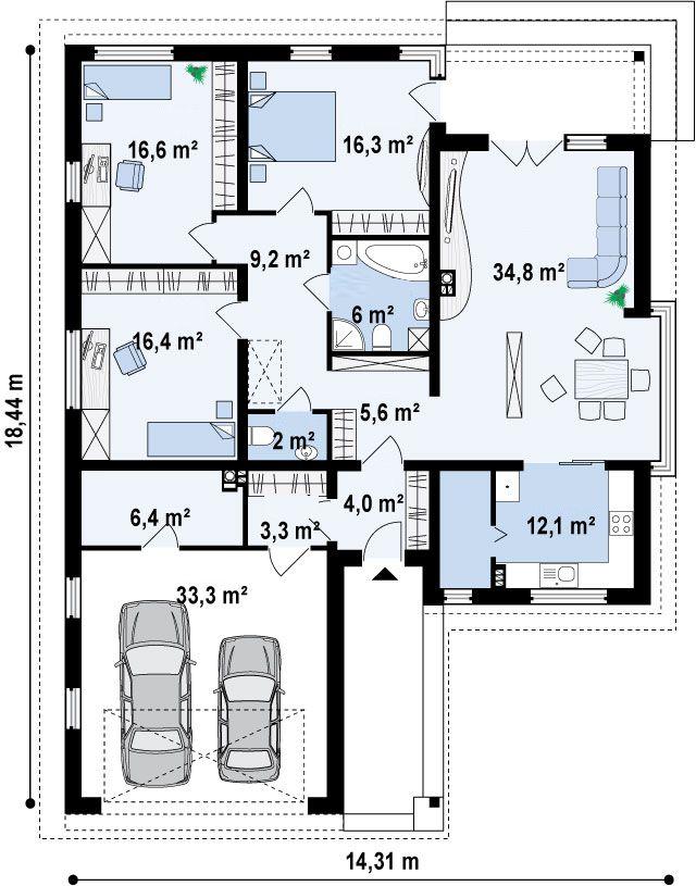 17 mejores ideas sobre planos de garajes en pinterest - Como hacer un plano de una casa ...