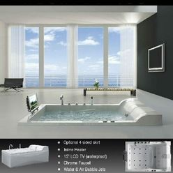 OVERSIZED 2 PERSON jetted bathtubs | Products two person whirlpool tubs Design Ideas, Pictures, Remodel and ...
