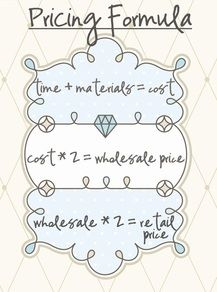 Craft pricing formula - people would never pay what I'd have to charge!