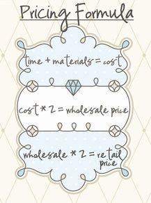 Craft pricing formula