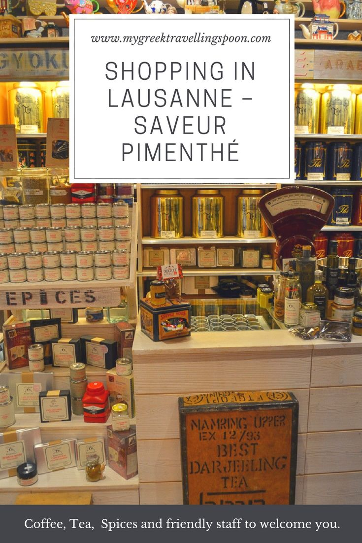 I love to discover Lausanne's little gems and get to know more about the people who make a place unique. Saveur PimenThé, a historic shop dating back to 1924, is one of them.  #SaveurPimenThé #coffee #coffeeroaster #flavors #gifts #historicshops #Lausanne   #mylausanne #inlovewithswitzerland #LausannePrixduCommerce #maplesyrup #shopping #spices #tea #teacups #CaféduBrésil