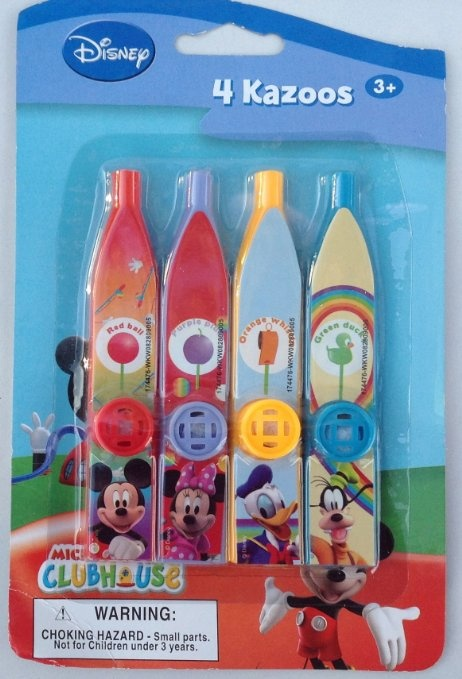 Amazon.com: Disney Mickey Mouse Clubhouse Pack Of 4 Kazoos Party Favors:  Toys