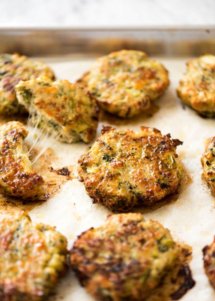 With a gorgeous golden brown crust and almost an entire head of broccoli in them, it's hard to believe these Chicken Patties are BAKED, not fried.
