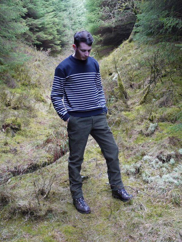 Woolly Navy & Cream Breton Jumper