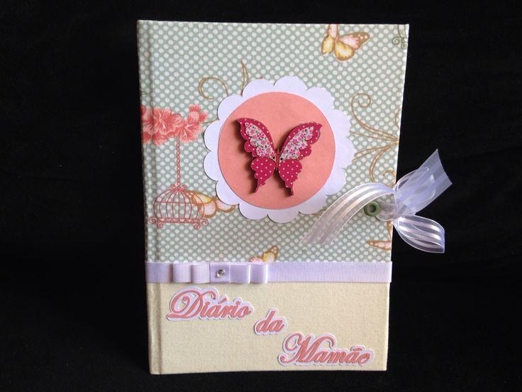 Diário da gestação borboletas