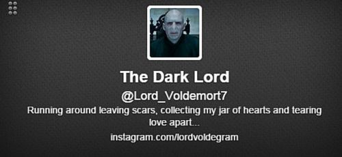 Lord Voldemort Twitter Bio