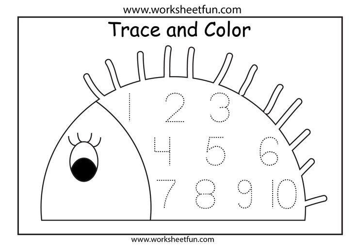 PreK Number Worksheets Number Tracing 1 Worksheet