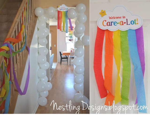 Care Bear Party. great ideas. she has more posts of the party, too