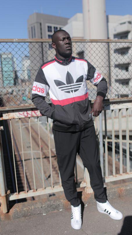 Stormzy wears adidas Originals by NIGO while on a.