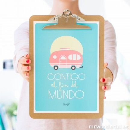 Lámina summer con relieve - Contigo al fin del mundo #print #mrwonderful #decoration
