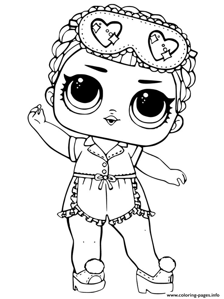 Lol Dolls Coloring Pages Printable in 20 Lol Doll Coloring