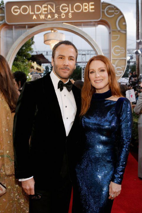 Julianne Moore and Tom Ford