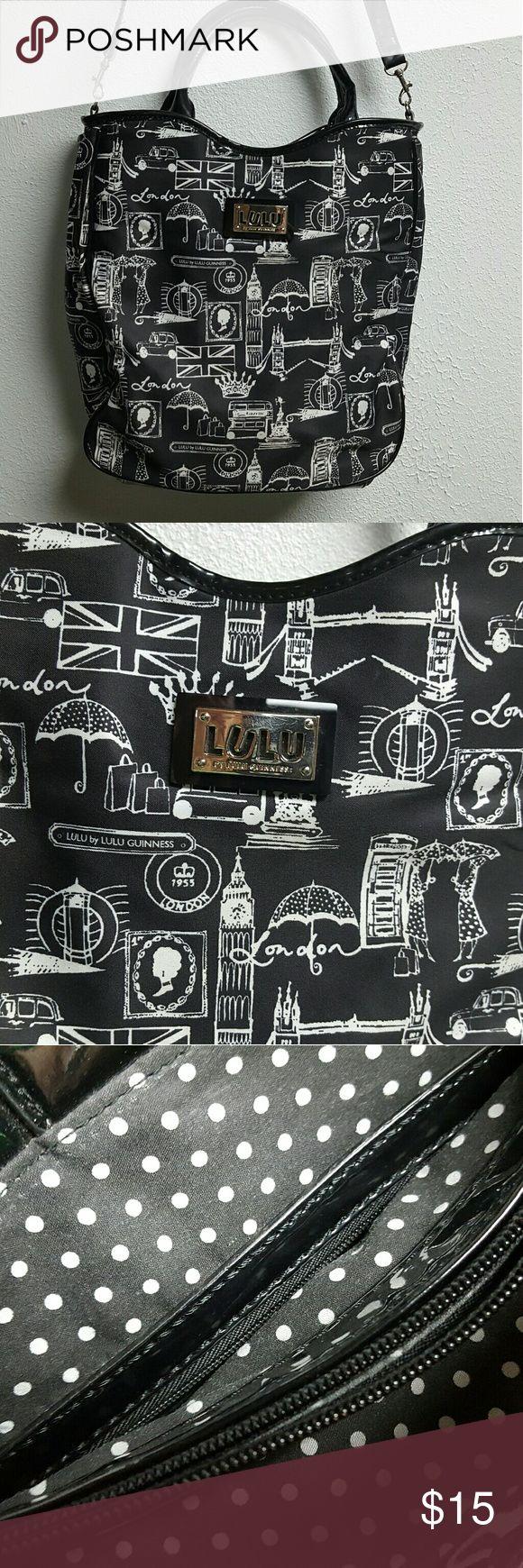 LULU BAG Wymsical black and white print Lulu Bags Shoulder Bags