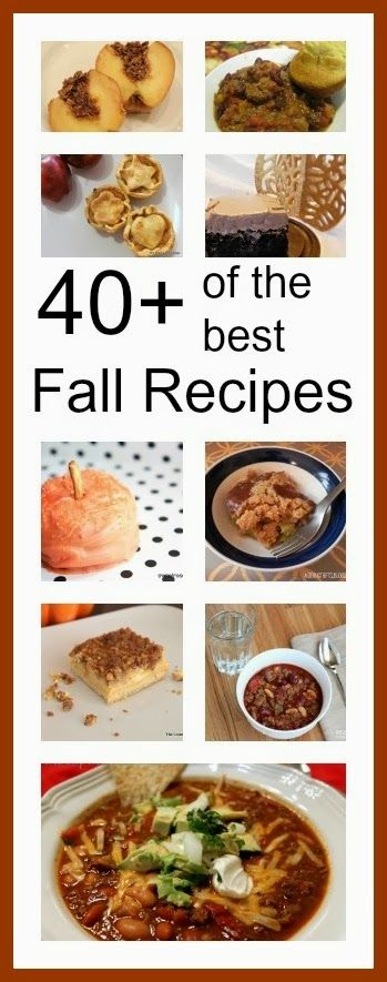 Who wouldn't love 40+ of the BEST Fall Recipes in one single location? Head on over to check out all of the yummy goodness! #recipes #baking #cooking