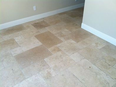 Versailles Pattern Floor Design Done In Cordoba Cream Travertine. This  Popular Pattern Is Random Enough