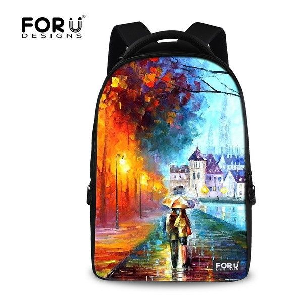 32.19$  Buy now - http://ali5hf.shopchina.info/go.php?t=32303146465 - Fashion 15.6 inch Printing Women Travel Backpack 3D Children Painting Backpacks,Large Computer Laptop Backpack for School girls  #aliexpresschina