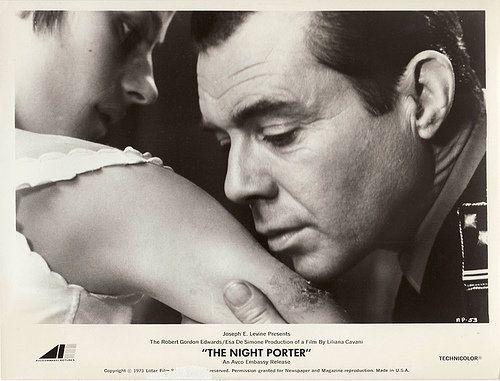 Charlotte Rampling and Dirk Bogarde in The Night Porter (Dir. Liliana Cavani, 1974)