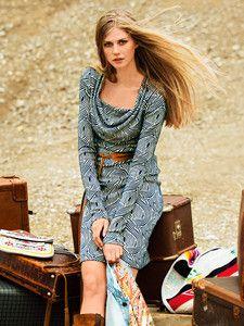 burda style: Damen - Kleider - Langarm-Kleider - Wasserfallkleid - überlange Ärmel