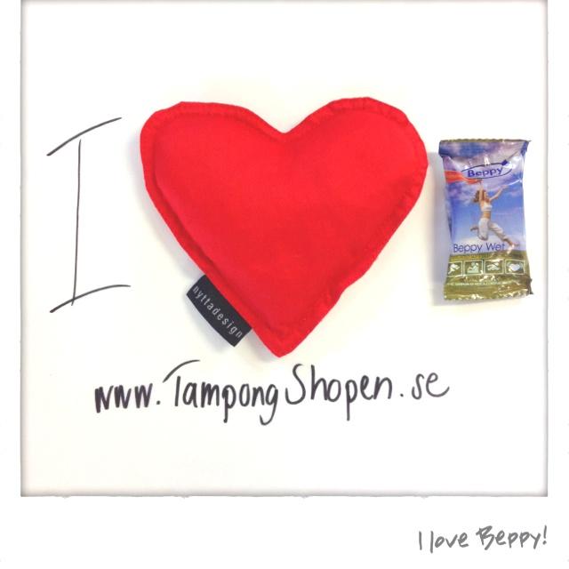 I love #Beppy! Mjuka #tamponger utan snöre. Perfekt för sport. Och #kärlek.  Http://www.TampongShopen.se
