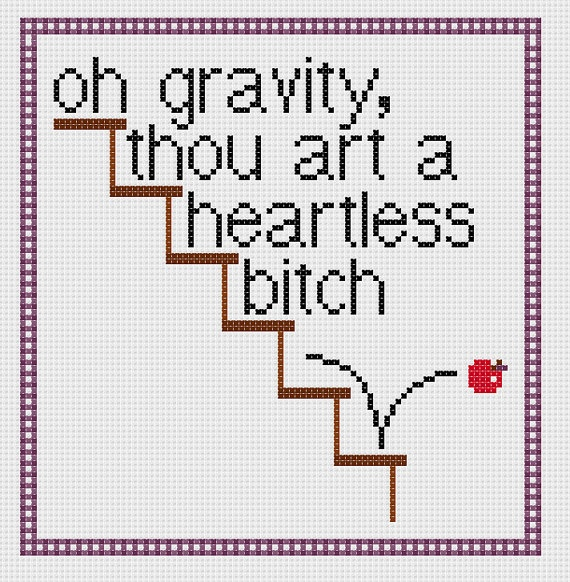 The Big Bang Theory Sheldon gravity quote by CapesAndCrafts, £2.30