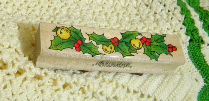 Holly Bell Border Stamp, F1551, Used Item, Made by Hero Arts, Emeryville,  California, Great for Holiday Card Making, Crafting, Scrapbooking by RitasGarden on Etsy