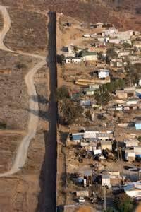 Mexico and the USA border.