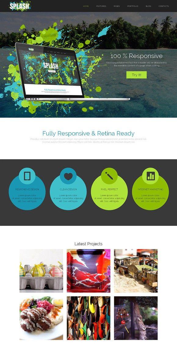 Splash Responsive Bootstrap Theme. Bootstrap Themes. 19