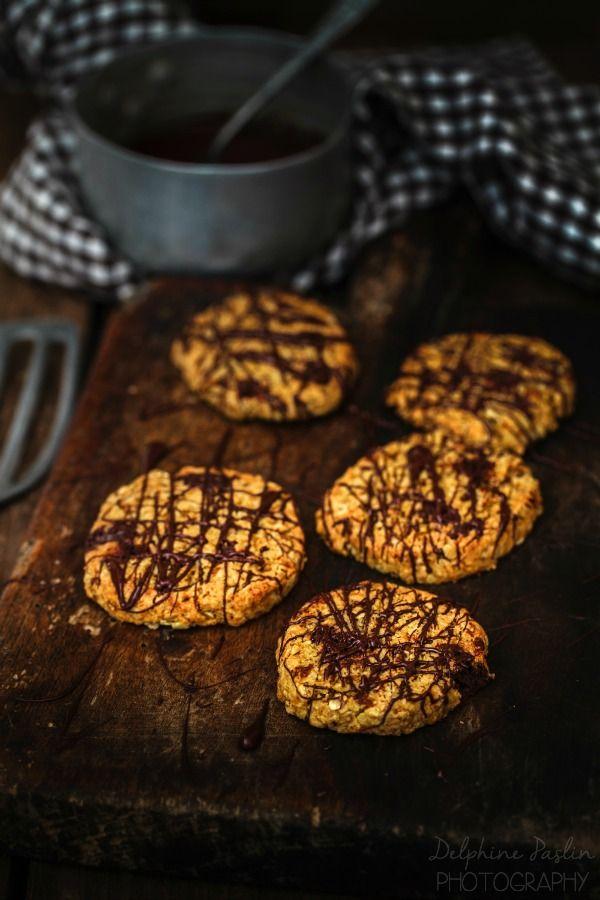 Double choc cookies aux flocons d'avoine
