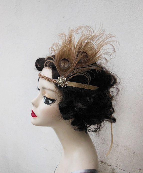ETSY formal flapper headband - perfect for bridesmaids :: 1920's Great Gatsby Art Deco wedding