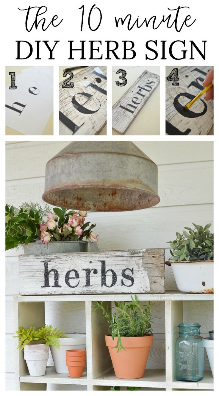 Primitive stencil home sweet home 12x12 for painting signs crafts - The 10 Minute Diy Herb Sign
