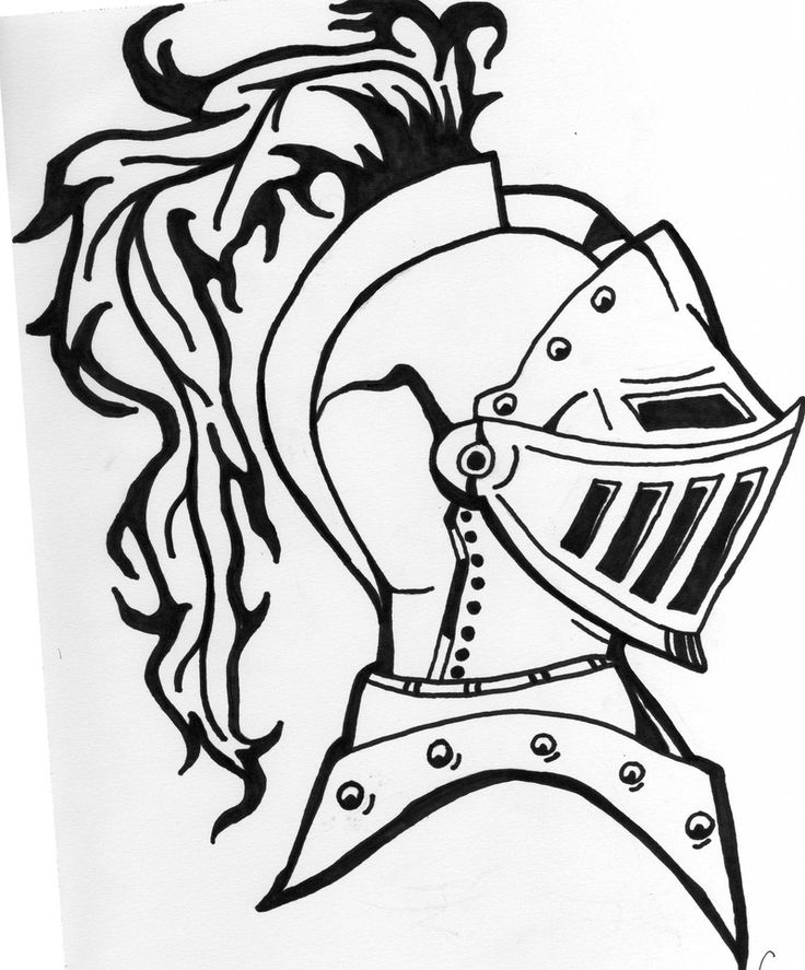 """Armored Knight Tattoo Design"" Ink Drawing by Eric Lamont ..."