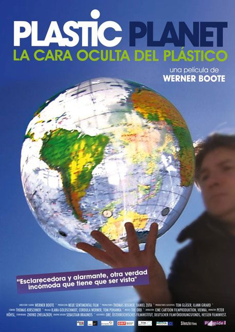 """cartel de la película """"Plastic Planet"""", documental sobre """"la cara oculta del plástico"""""""