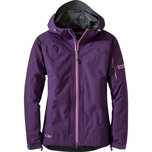 OR Aspire Women's Jacket - This lightweight shell with all-season features provides solid protection when a downpour sets in for the long haul.