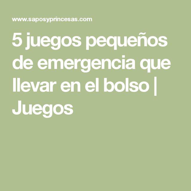 5 juegos pequeños de emergencia que llevar en el bolso | Juegos