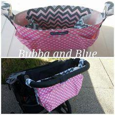 Stroller parent organizer stroller bag by bubbaandblue on Etsy