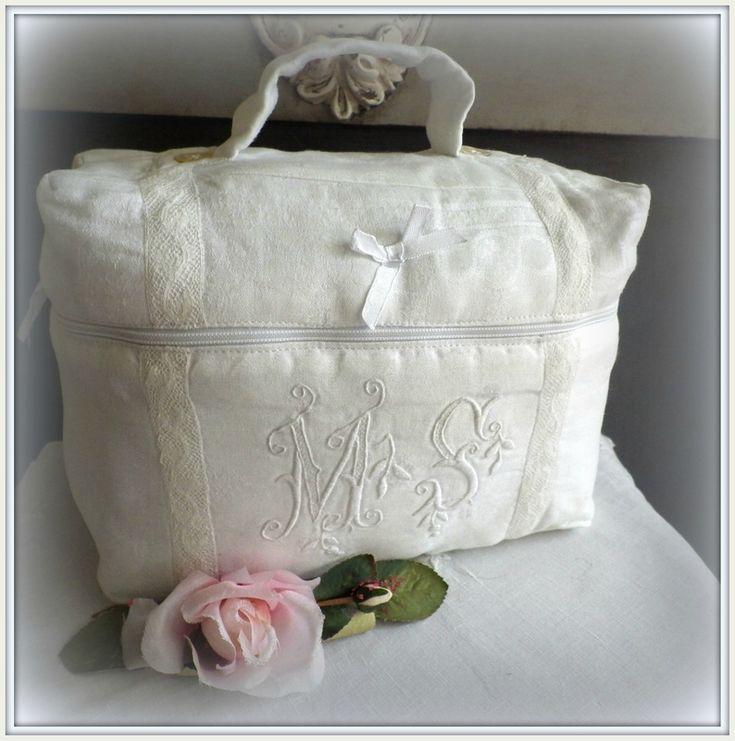 Les 84 meilleures images propos de sac tissus anciens for Linge shabby chic